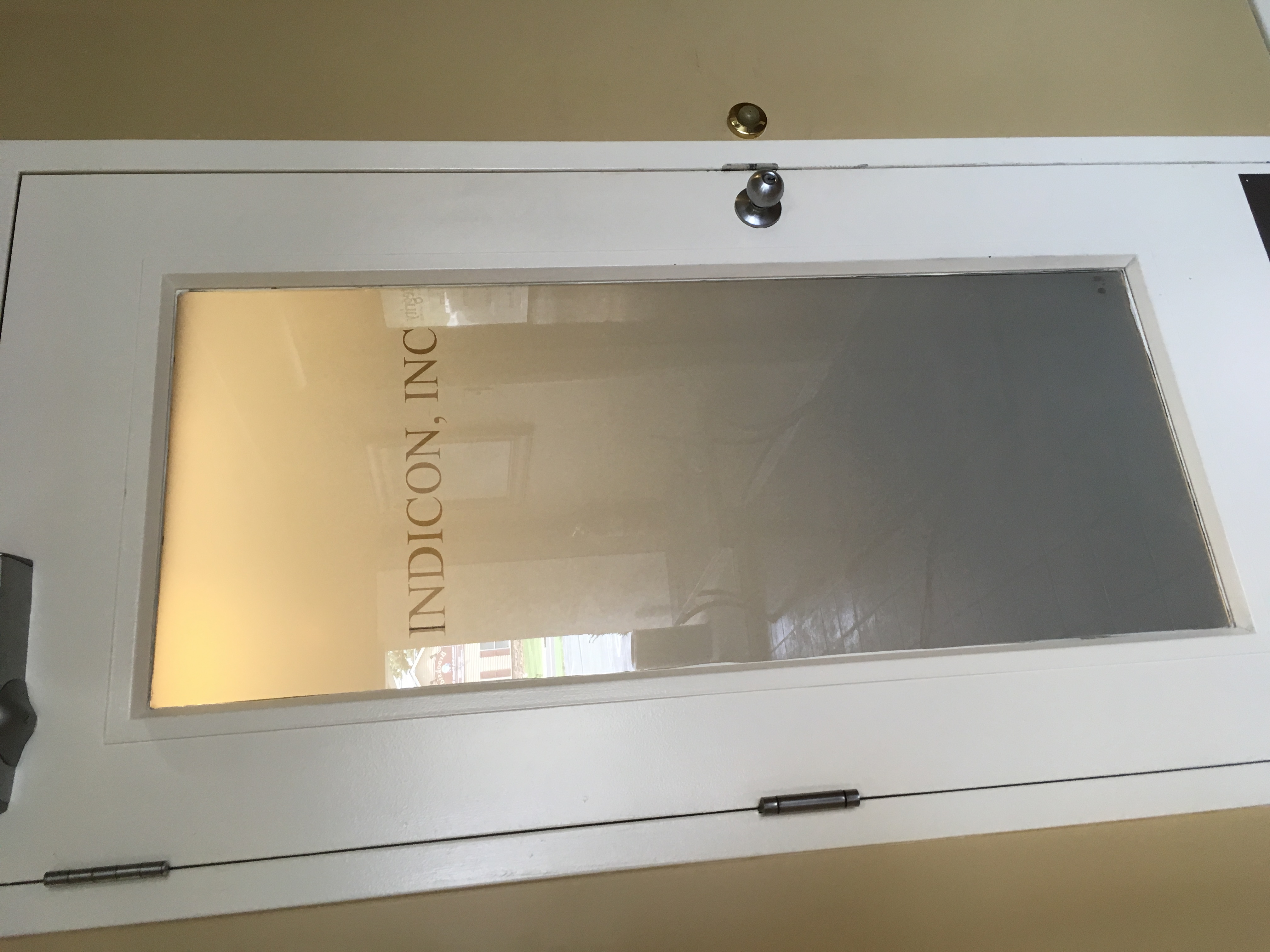 frosted privacy film with logo
