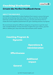 Coaching Program Evaluation Questions