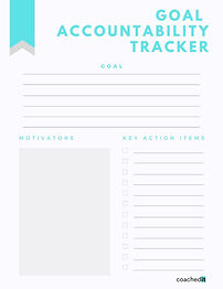 Goal Accountability Log and Tracker with to-do list