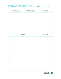 Create your daily to-do list based on your priorities.
