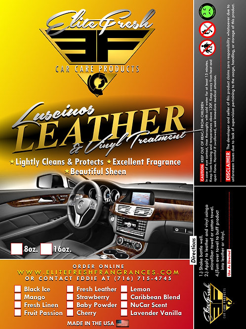 "Scented Leather & Vinyl Conditioner 16oz with 4"" Sponge"