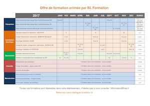 Calendrier formation 2017
