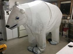 Polar bear ready to go