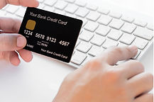 Computer keyboard and credit card