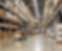 filled warehouse shelves