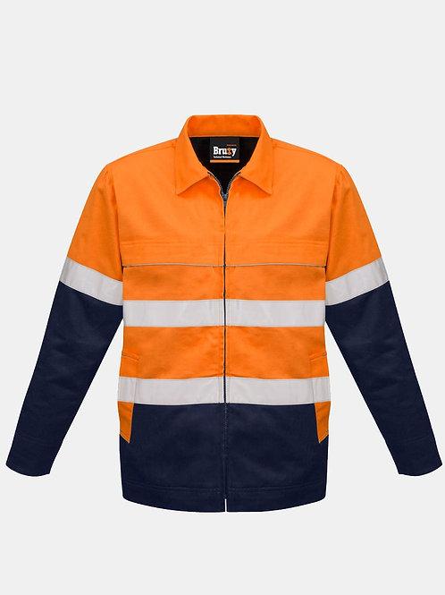 Mens High Vis Cotton Drill Jacket