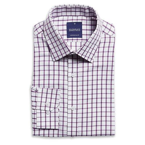 Mens Window Pane Check Long Sleeve Shirt