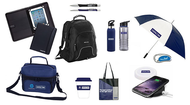 Datacom branded merchandise