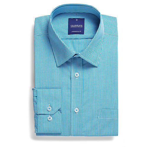 Mens Long Sleeve Gingham Check Shirt
