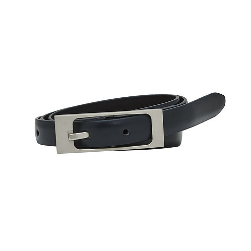Silver Rounded Rectangle Buckle Belt