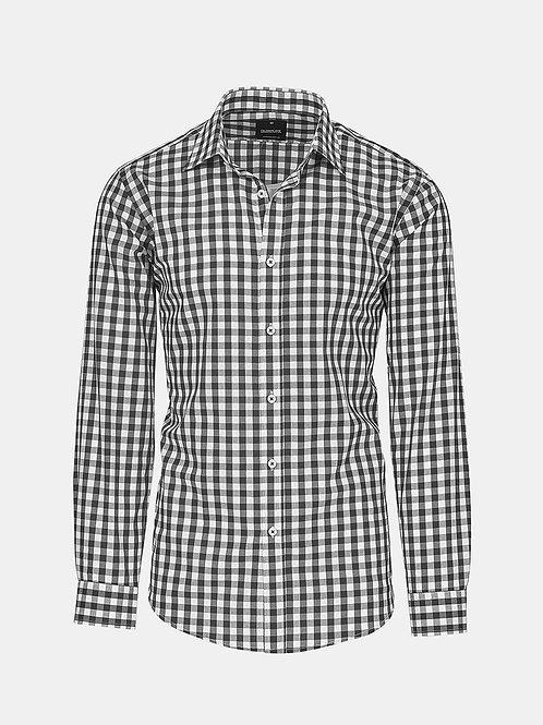 Mens Long Sleeve Royal Oxford Gingham Check Shirt