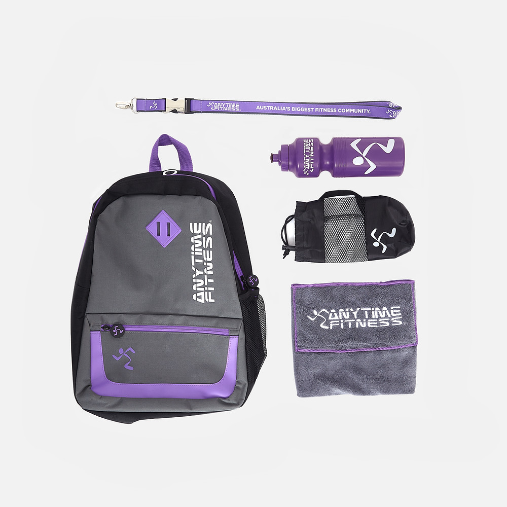 promotional merchandise for anytime fitness