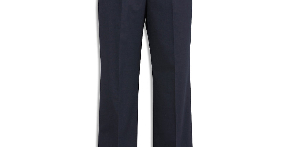 Mens Comfort Wool Stretch One Pleat Pant Stout