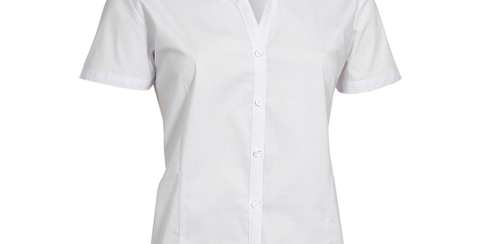 Ladies Metro Cotton Rich Short Sleeve Shirt