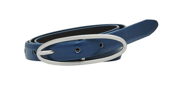 Silver Oval Buckle Belt