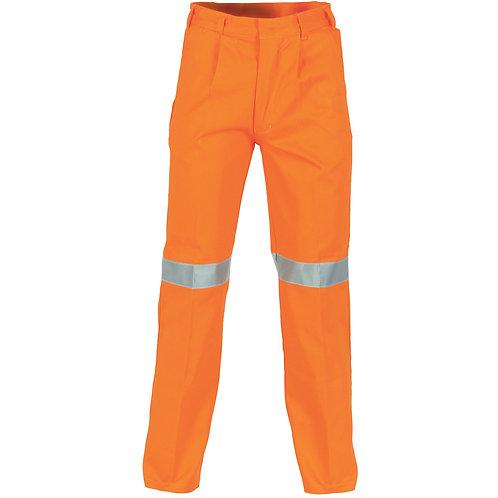 Mens Cotton Drill Pants with Hi-Viz 3M Tape