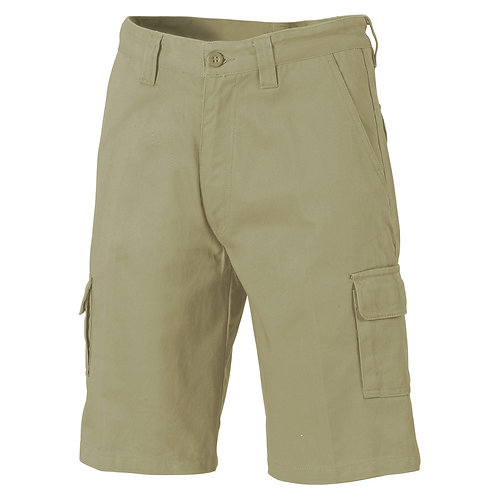 Mens Cotton Drill Cargo Shorts