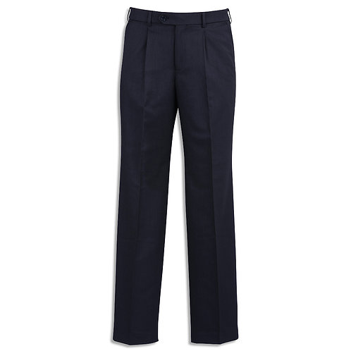 Mens Cool Stretch Suiting One Pleat Pant Stout
