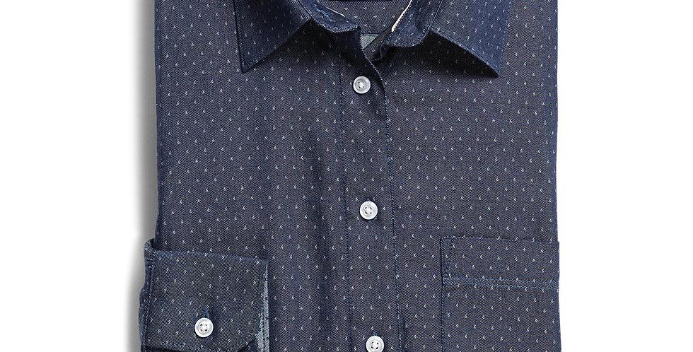 Ladies Long Sleeve Polka Dot Shirt