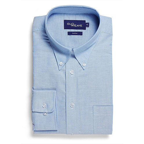 Mens Oxford Weave Long Sleeve Shirt