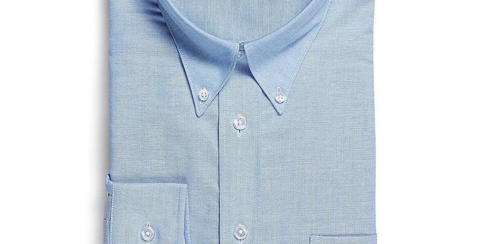 Mens Oxford Weave Long Sleeve Shirt