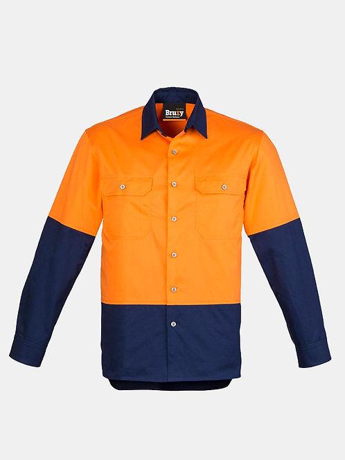 Mens High Vis Spliced Long Sleeve Shirt