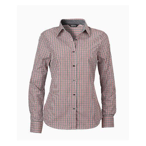 Ladies Hudson Long Sleeve Check Shirt