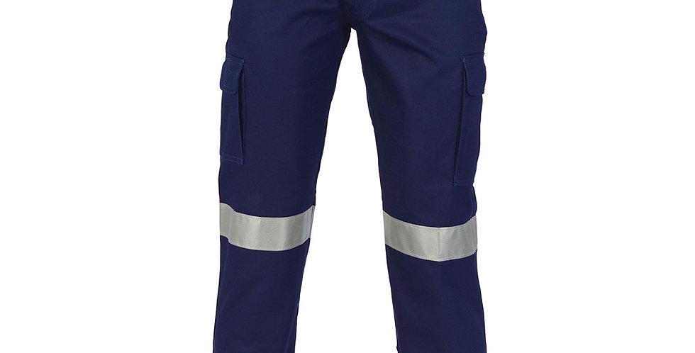 Mens Hi Viz Cotton Drill Taped Cargo Pants