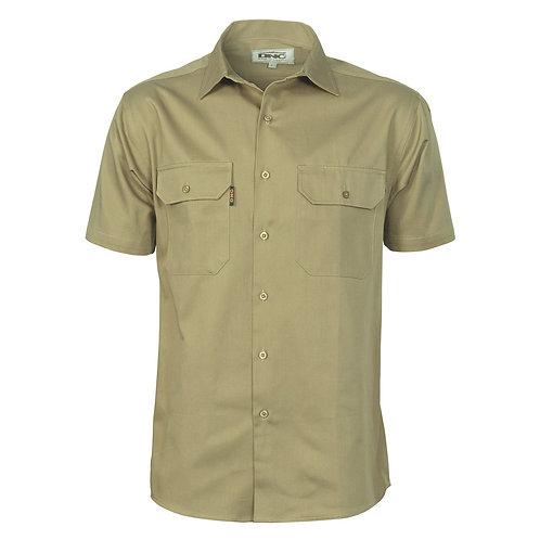 Mens Cotton Drill Work Shirt