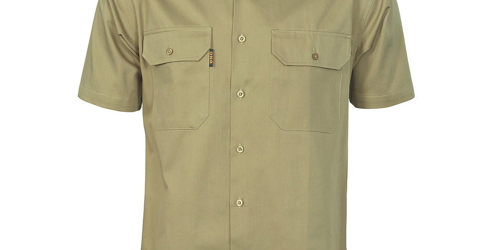 Mens Cotton Drill Work Shirt