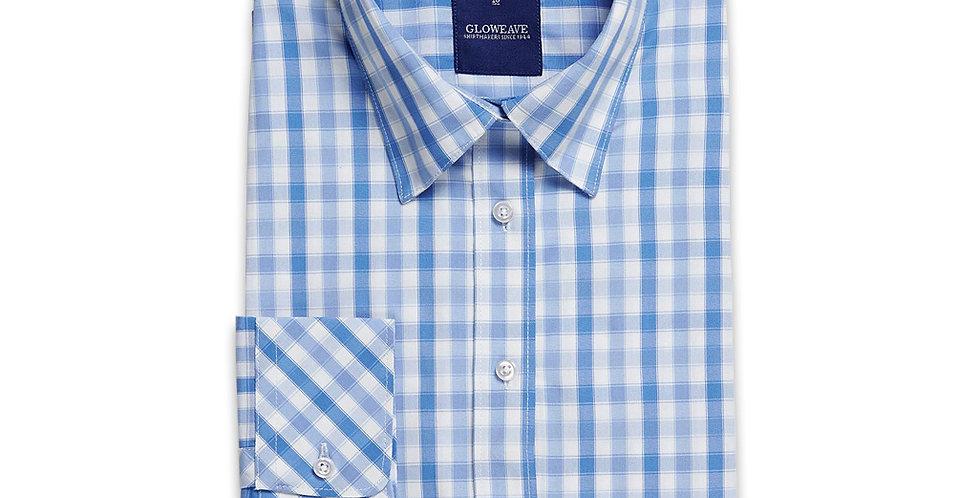 Ladies 3/4 Sleeve Soft Tonal Check Shirt