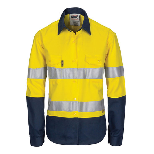 Mens Day/Night HiVis Cool Breeze Mesh Vented Shirt/Gusset Sleeve