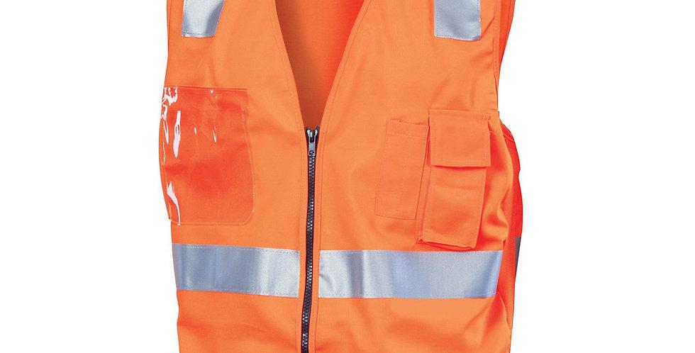 Unisex Day/Night Side Panel Safety Vest