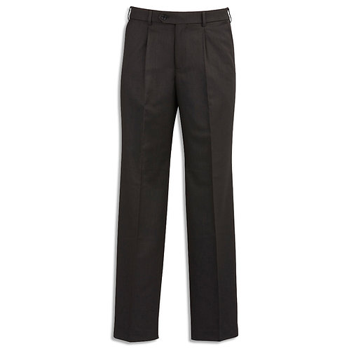 Mens Cool Stretch Suiting One Pleat Pant Regular