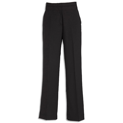 Ladies Cool Stretch Suiting Piped Band Pant