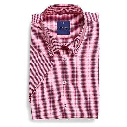 Ladies Short Sleeve Gingham Check Shirt