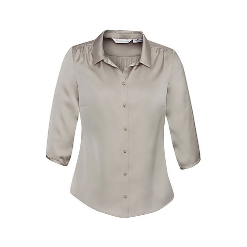Ladies Shimmer 3/4 Sleeve Fashion Blouse