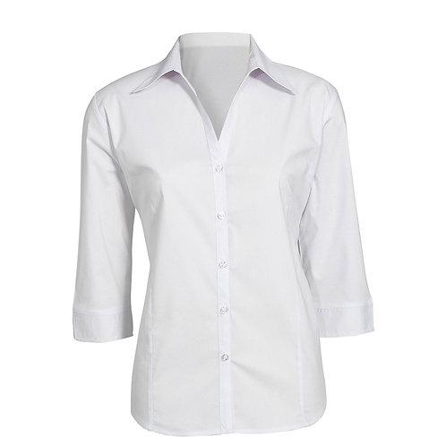 Ladies Metro Cotton Rich 3/4 Sleeve Shirt