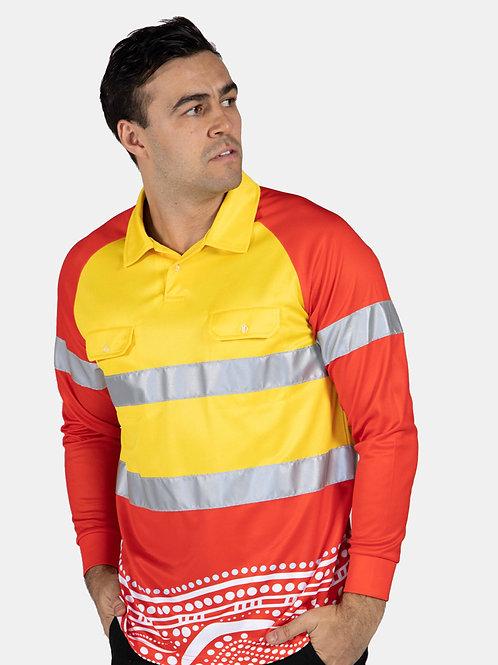 Sublimated Custom HiVis LS Polo Shirt