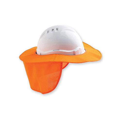 Vented Hard Hat- Detachable Hard hat brim with flap