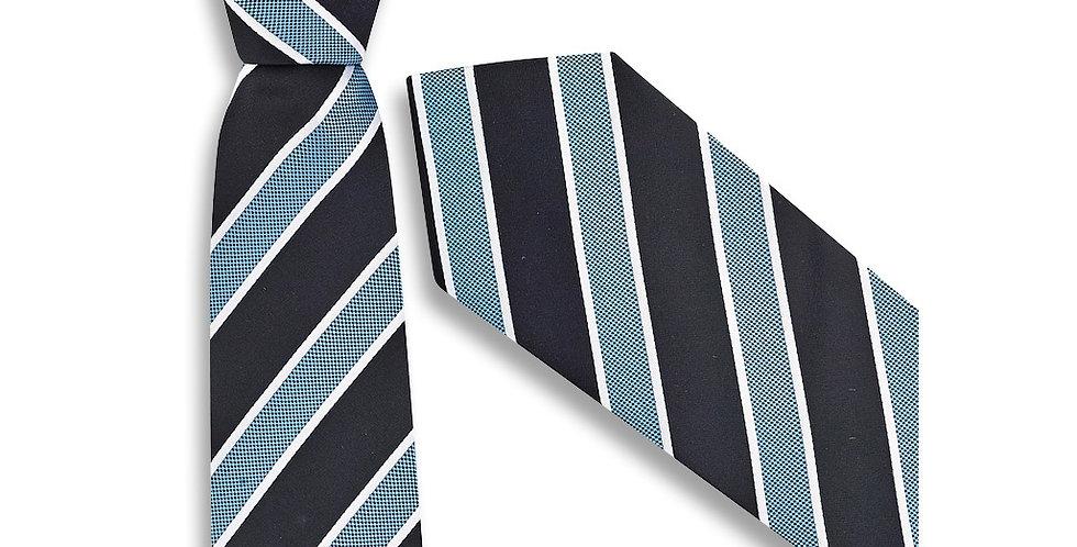 Mens Wide Contrast Stripe Tie
