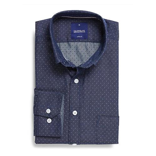 Mens Long Sleeve Polka Dot Shirt