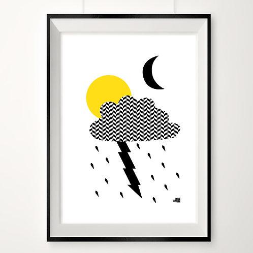 Pretty storm sale print