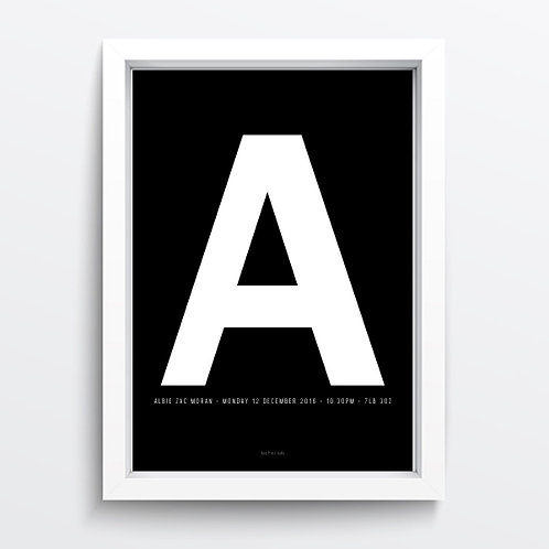 Birth Letter print