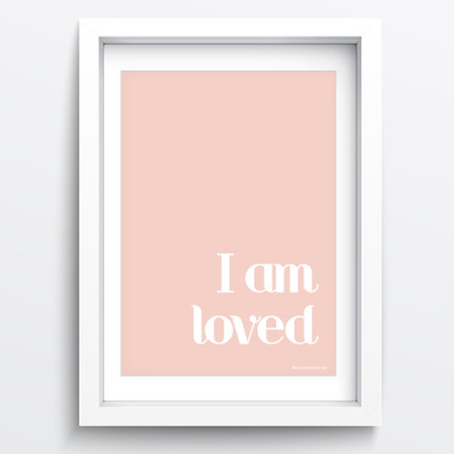 Pink/Grey I am loved sale print