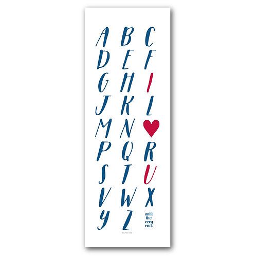 I heart you alphabet sale print