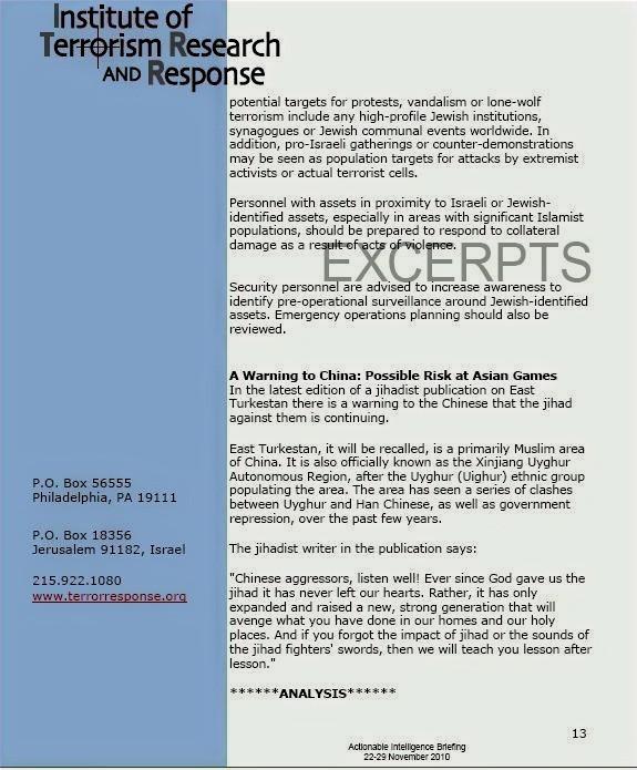 ITRR report excerpt