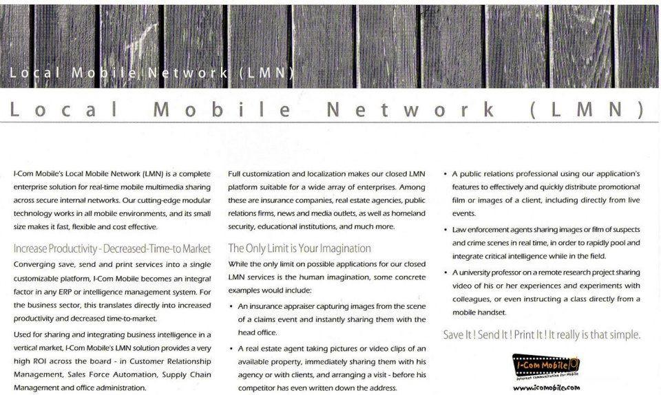 ICom Mobile brochure