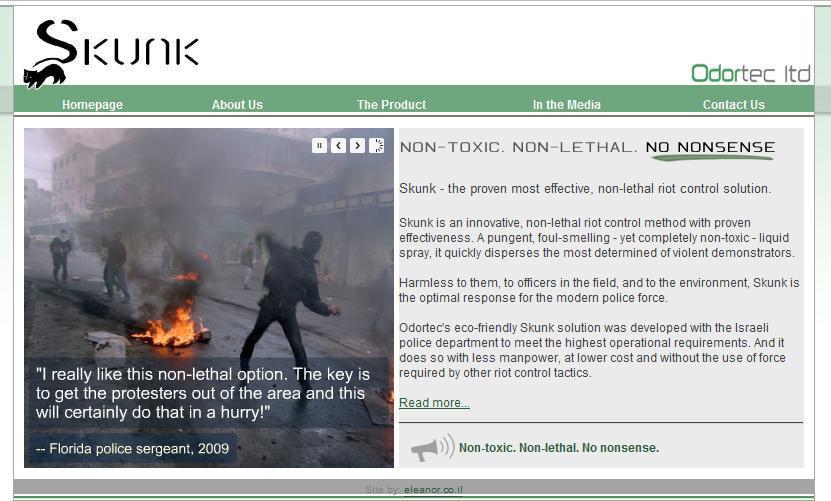Odortec webpage