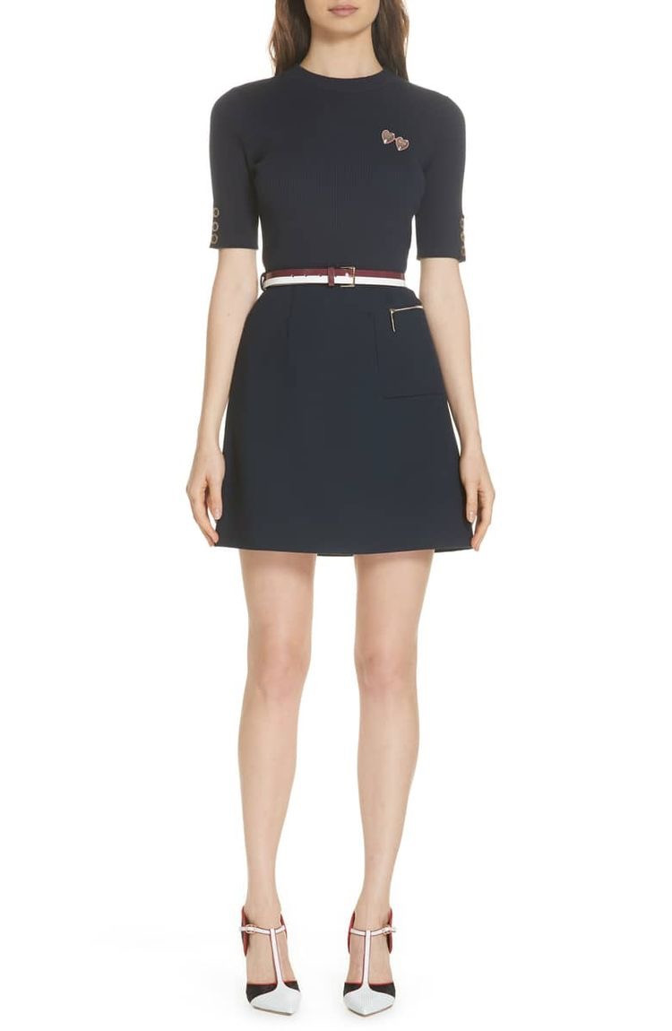 Ted Baker Colour by Numbers Elsbeth Mix Media Dress